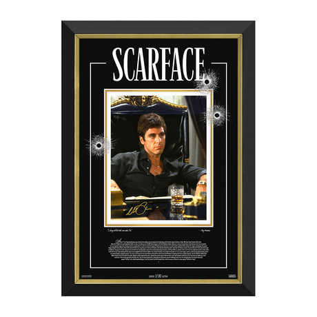 Al Pacino // Scarface // Limited Edition Facsimile Signature Display // 1/183