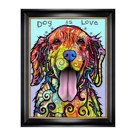 """Dog is Love"" // Textured Giclee Print by Dean Russo"