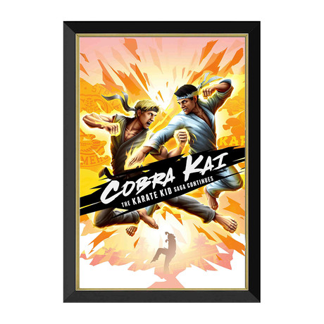 Cobra Kai // Framed Canvas Print // Daniel vs Johnny