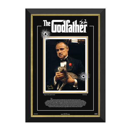 Marlon Brando // The Godfather // Limited Edition Facsimile Signature Display // 172/172