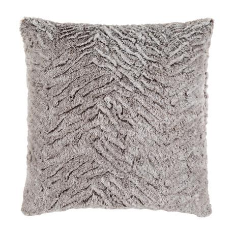 Felina // Black + Medium Gray (Pillow Shell Only)