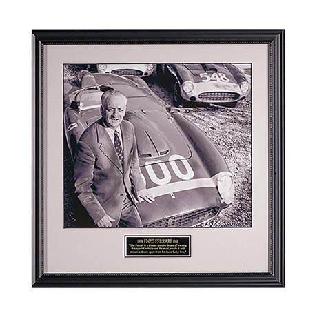 Enzo Ferrari // Quote Plaque Display
