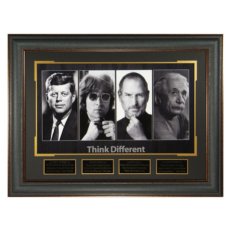 Think Different // Quote Plaque Display