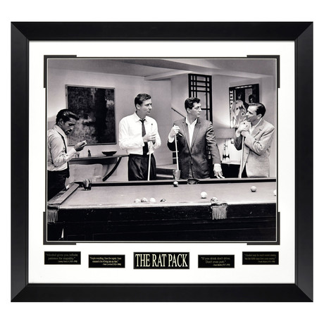 Rat Pack // Pool Table // Quote Plaque Display