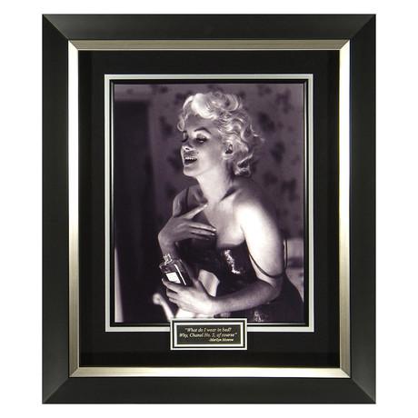 Marilyn Monroe // Chanel NO. 5 // Quote Plaque Display