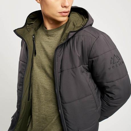 Jensen Reversible Jacket // Charcoal + Khaki (S)
