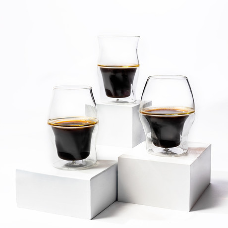 AVENSI Coffee Enhancing Glasses // 3 Piece Complete Set