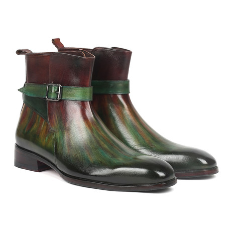 Jodhpur Boots // Green + Bordeaux (Euro: 38)