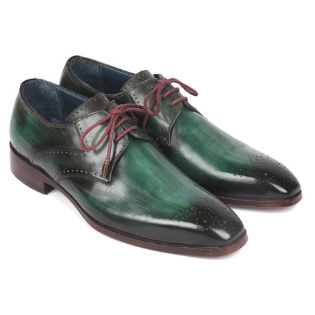 Medallion Toe Derby Shoes // Green (Euro: 38)