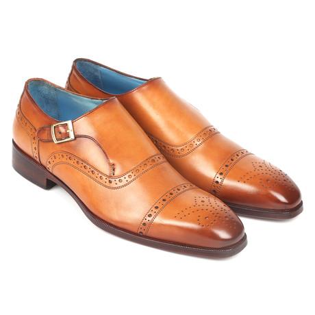 Cap Toe Monkstrap Shoes // Cognac (Euro: 38)