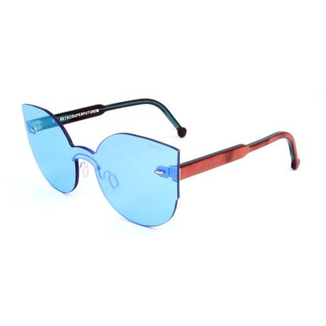 Unisex Lucia Celeste Sunglasses // Blue + Burgundy