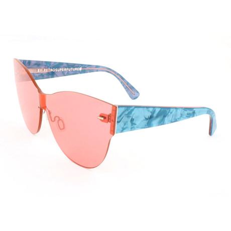 Women'S Kim Amaranth Sunglasses // Pink + Blue