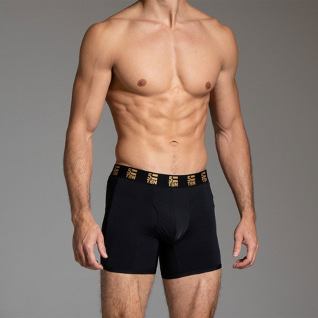 Boxer Brief // Black Mesh (Small)