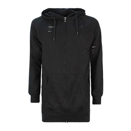 Rolie Zip-Up Sweatshirt // Black (XS)