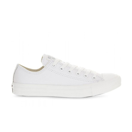 Men's Chuck Taylor Leather Low Top // White (UK: 2.5)