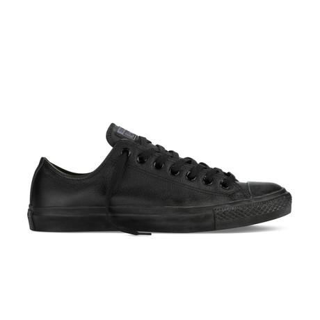 Men's Chuck Taylor Leather Low Top // Black (UK: 2.5)