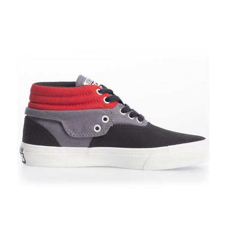 Unisex Skid Grip Shoe // Red + Gray + Black (UK: 2.5)