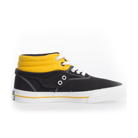 Unisex Skid Grip Shoe // Black + Yellow (UK: 2.5)
