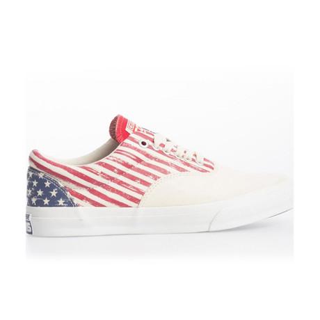 Unisex Skid Grip Shoe // Red + White + Blue (UK: 2.5)