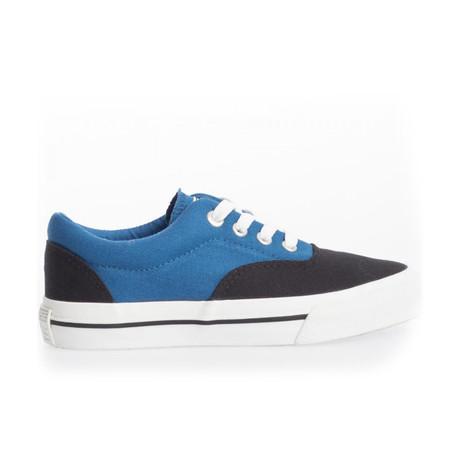 Unisex Skid Grip Low Top // Black + Blue (UK: 2.5)