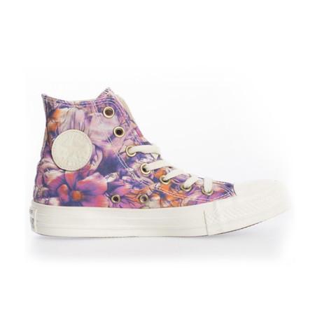Women's Floral High Top // Purple (UK: 2.5)