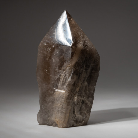 Genuine Polished Smokey Quartz Point