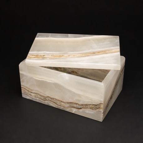 Genuine Polished Onyx Jewelry Box