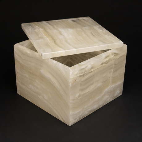 Genuine Polished Large Banded Onyx Jewelry Box