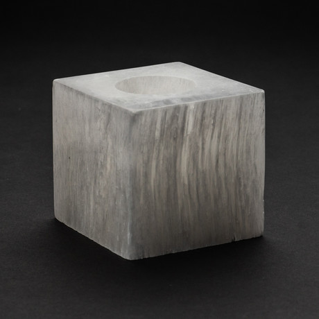 Genuine Natural Selenite Candleholder