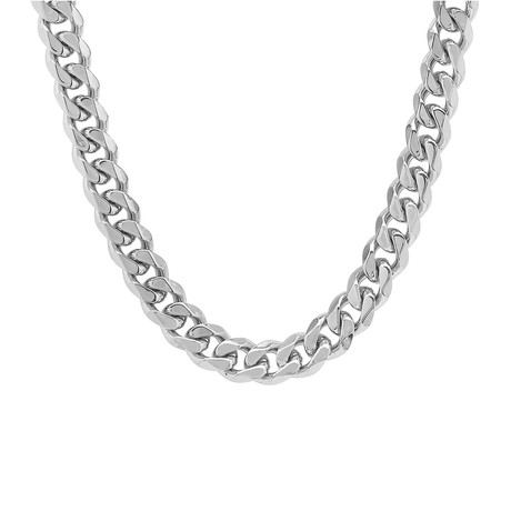 Thick Cuban Link Necklace // Metallic