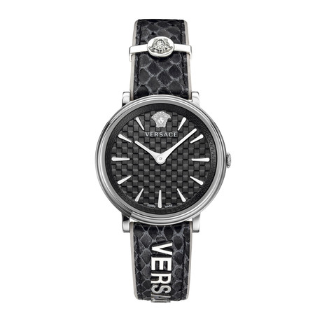 Versace Ladies V-Circle Logomania Quartz // VE8100919