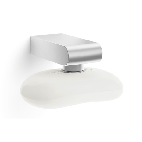 ATORE // Wall Mounted Magnetic Soap Holder (Brushed Silver)