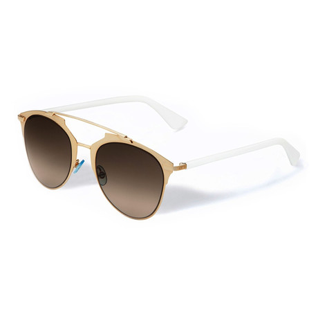 Women's Reflected Sunglasses // Gold + White