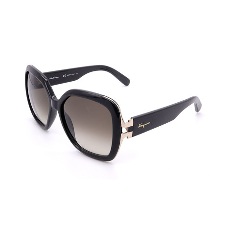 Women's SF781S-001 Buttefly Sunglasses // Black + Brown Gradient
