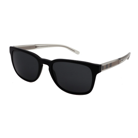 Burberry // Men's BB4222-300187 Square Sunglasses // Black + Black