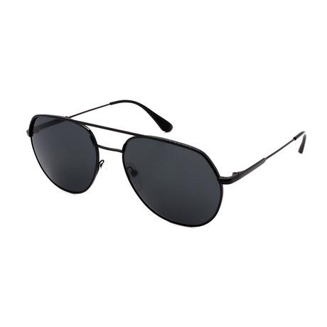 Men's PR55US-1AB5SO Aviators Sunglasses // Black + Gray