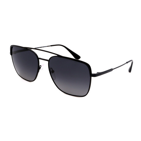 Prada // Men's PR53VS-1BO5W159 Square Polarized Sunglasses // Matte Black + Gray Gradient