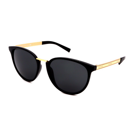 Versace// Unisex VE4366-GB1/87 Round Sunglasses// Black Gold + Gray