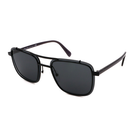 Prada // Men's PR59US-1AB5S059 Square Sunglasses // Black + Gray