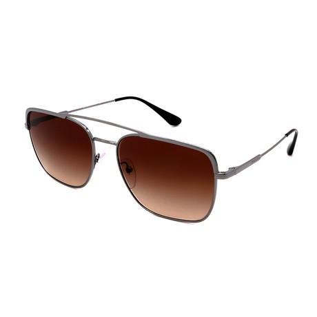 Prada // Men's PR53VS-5AV6S159 Pilot Sunglasses // Gunmetal + Brown Gradient