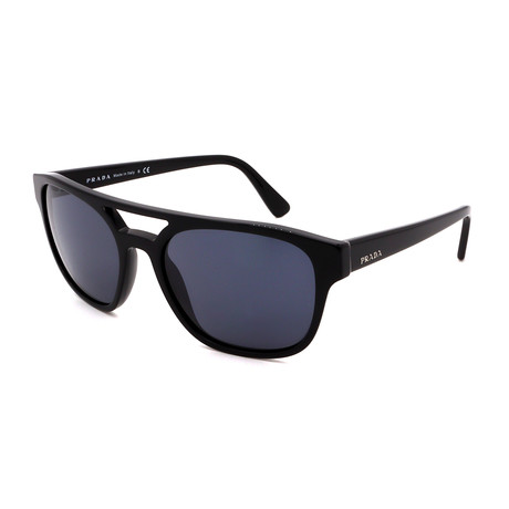 Prada // Men's PR23VS-A1AB0A9 Square Sunglasses // Black + Blue