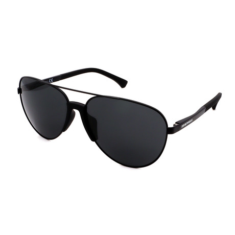 Emporio Armani // Men's EA2059F-320387 Aviator Sunglasses // Black + Black