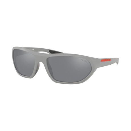 Men's Linea Rossa PS18US-5355L066 Sunglasses // Matte Gray + Light Gray Mirror