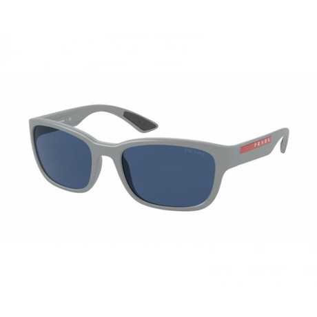 Men's Linea Rossa PS05VS-NAR06A57 Sunglasses // Light Gray Demi Shiny + Dark Blue