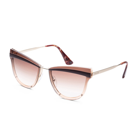 Women's Fashion PR12US-KOF0A665 Sunglasses // Pale Gold + Antique Pink + Brown Gradient