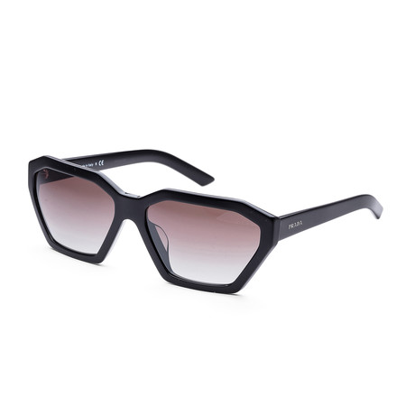 Women's Fashion PR03VSF-1AB5O059 Sunglasses // Black + Gray Gradient + Silver Mirror