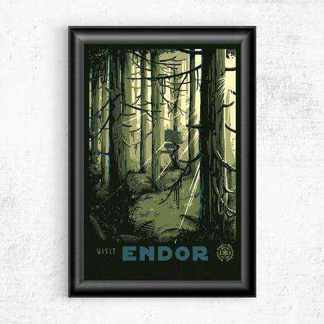 """Visit Endor // Star Wars (11""""W x 17""""H)"""