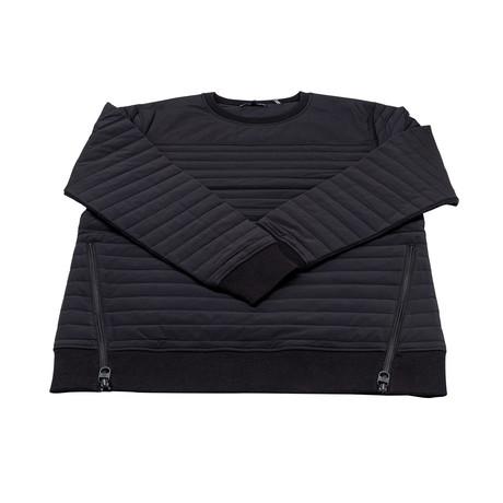 Men's Badger Quilted Sweatshirt // Black (XS)