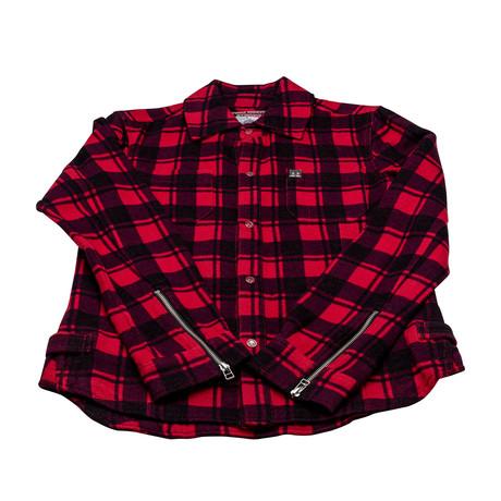 Men's Rocker Dave Plaid Jacket // Red + Black (XS)