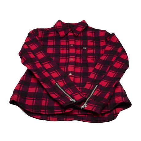Women's Rocker Jenny Plaid Jacket // Red + Black (XS)